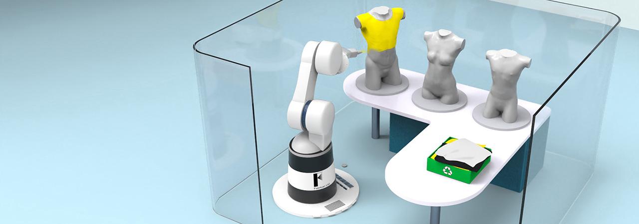 Robot spraying maniquies