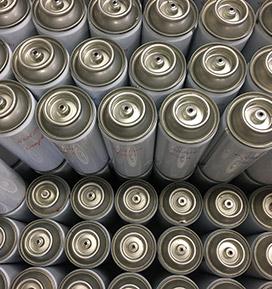 Spray on aerosol cans